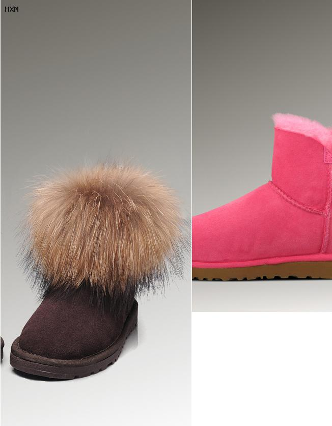 botte ugg marron avec noeud