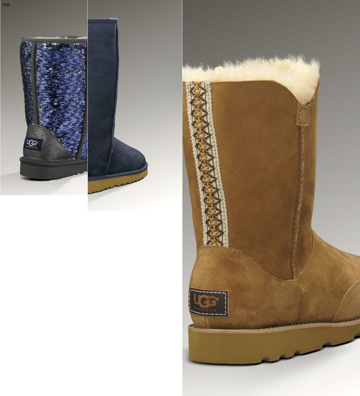 ugg boots noir brillant