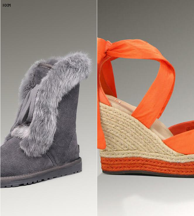 ugg grise noeud pas cher